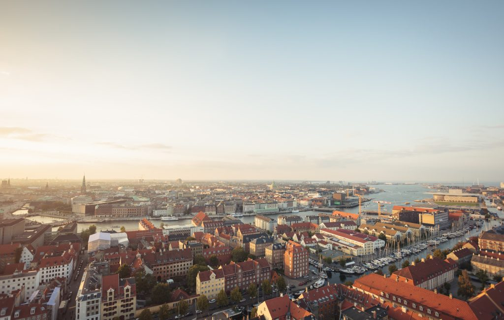 Bird's-eye view of Copenhagen