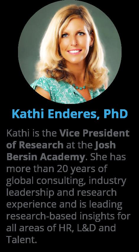 Kathi Enderes, VP of Research at Josh Bersin Academy