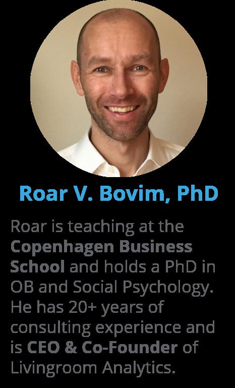 CEO and Co-Founder, Roar V. Bovim, from Livingroom Analytics as key speaker