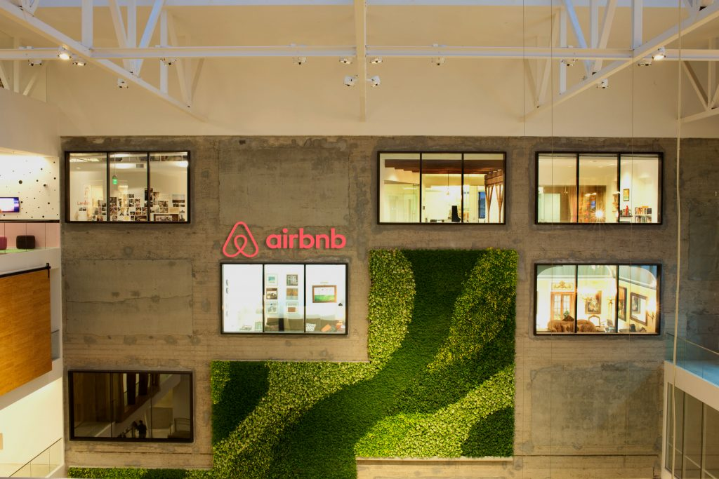 Creative office spaces inside Airbnb's San Francisco headquarters