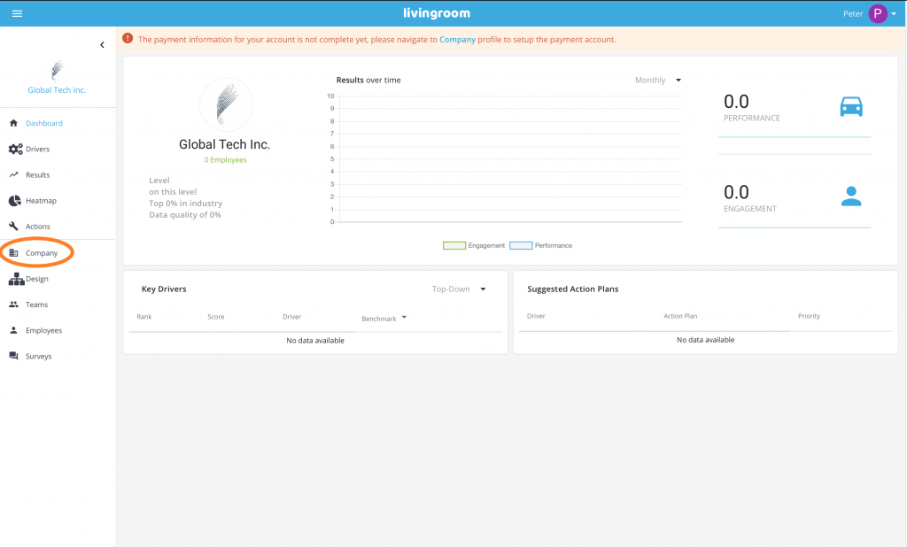 Company Data Page